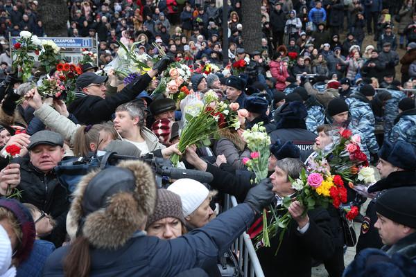 Прощание с Борисом Немцовым в Сахаровском центре/ТАСС