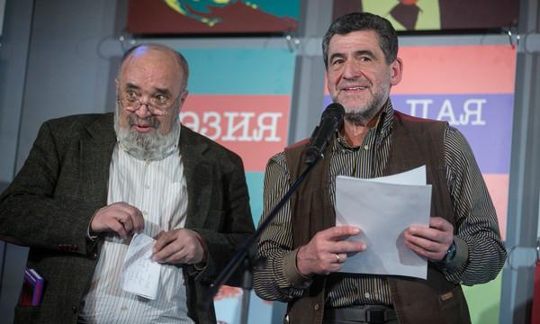 Евгений Попов и Георгий Борисов. Фото Анатолия Степаненко