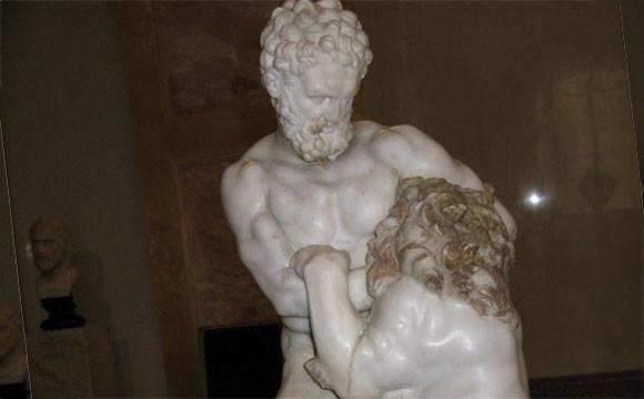 Лисипп. Геракл со львом. Фрагмент