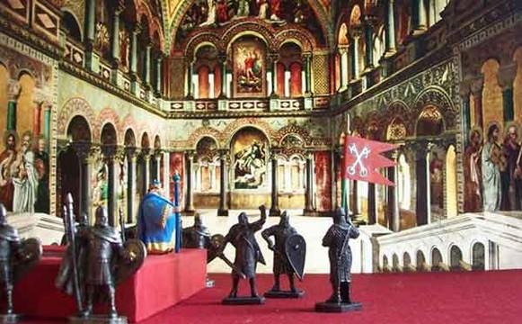 Вассальная клятва крестоносцев императору Византии. Инсталляция с форума www.soldiers40mm.ru