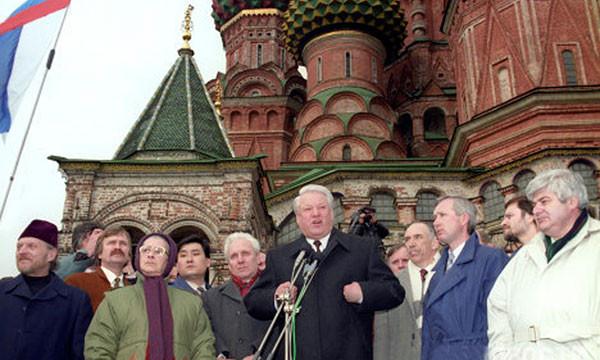 IX (внеочередной) Съезд народных депутатов РФ. Митинг на Васильевском спуске