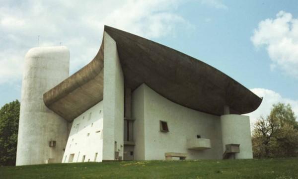 одно из зданий, построенных про проекту Ле Корбюзье